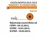 Ogólnopolska Olimpiada Wiedzy o Państwie i Prawie – etap szkolny rok szkolny 2013/2014